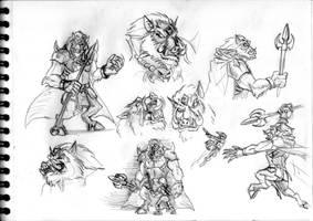 Legend of Zelda sketch #5 (Ganon)