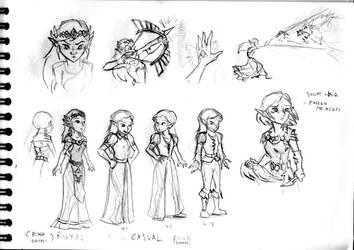 Legend of Zelda sketch #21 (Zelda)