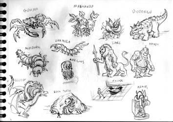 Legend of Zelda sketch #22 (Various monsters)