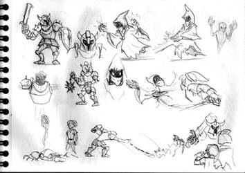 Legend of Zelda sketch #23 (Darknut and Wizzrobe)