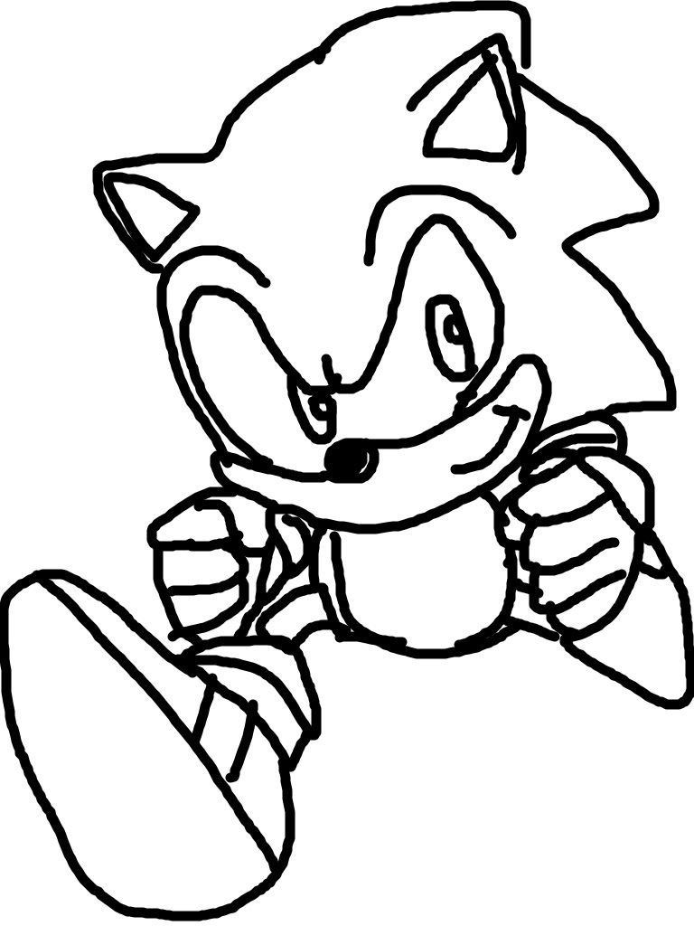 Classic Sonic Coloring Pages Coloring Pages