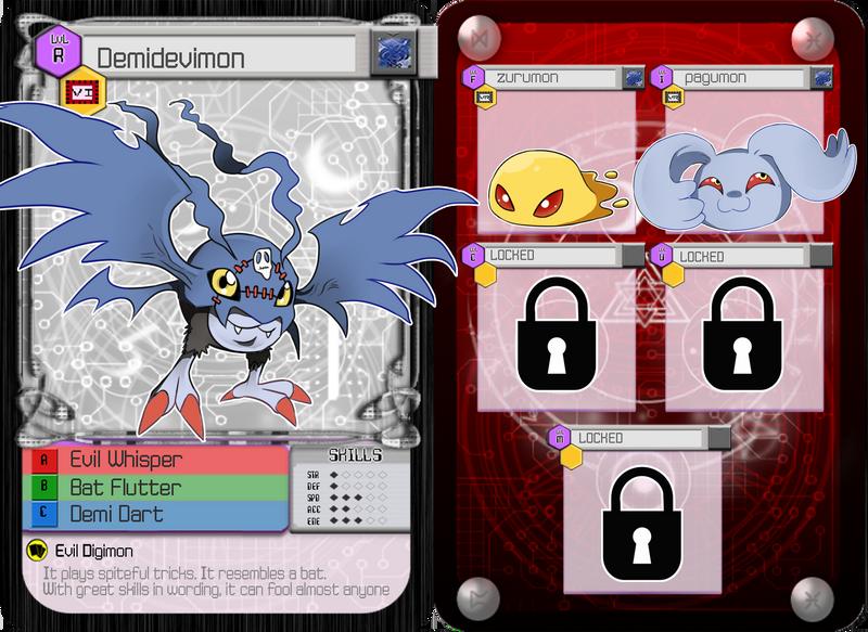 DA :: Digimon Demidevimon 'Poe' App by cocoasaurus