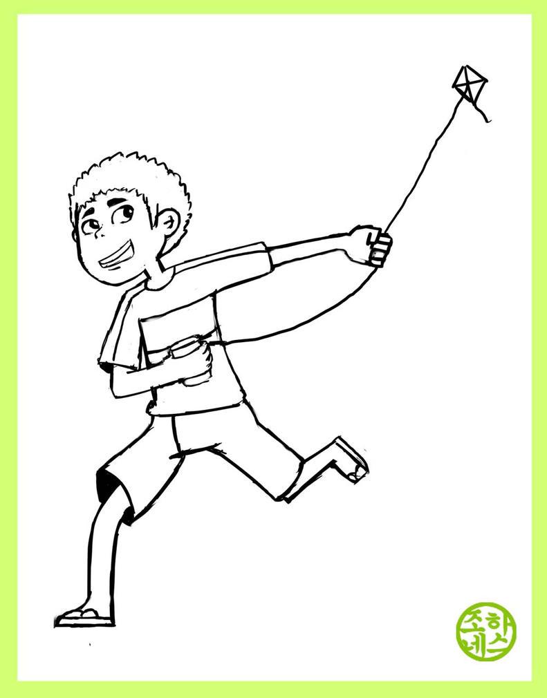 Sabil the Kite Boy by johanesluch