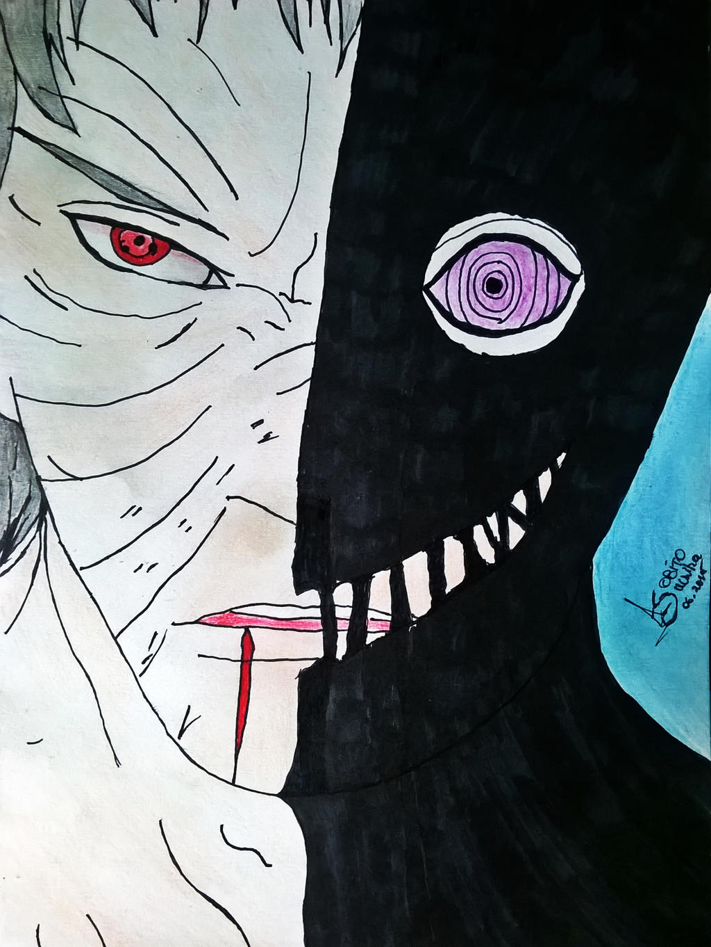 Naruto Shippuden - Obito Uchiha (Drawings by AS) by ...