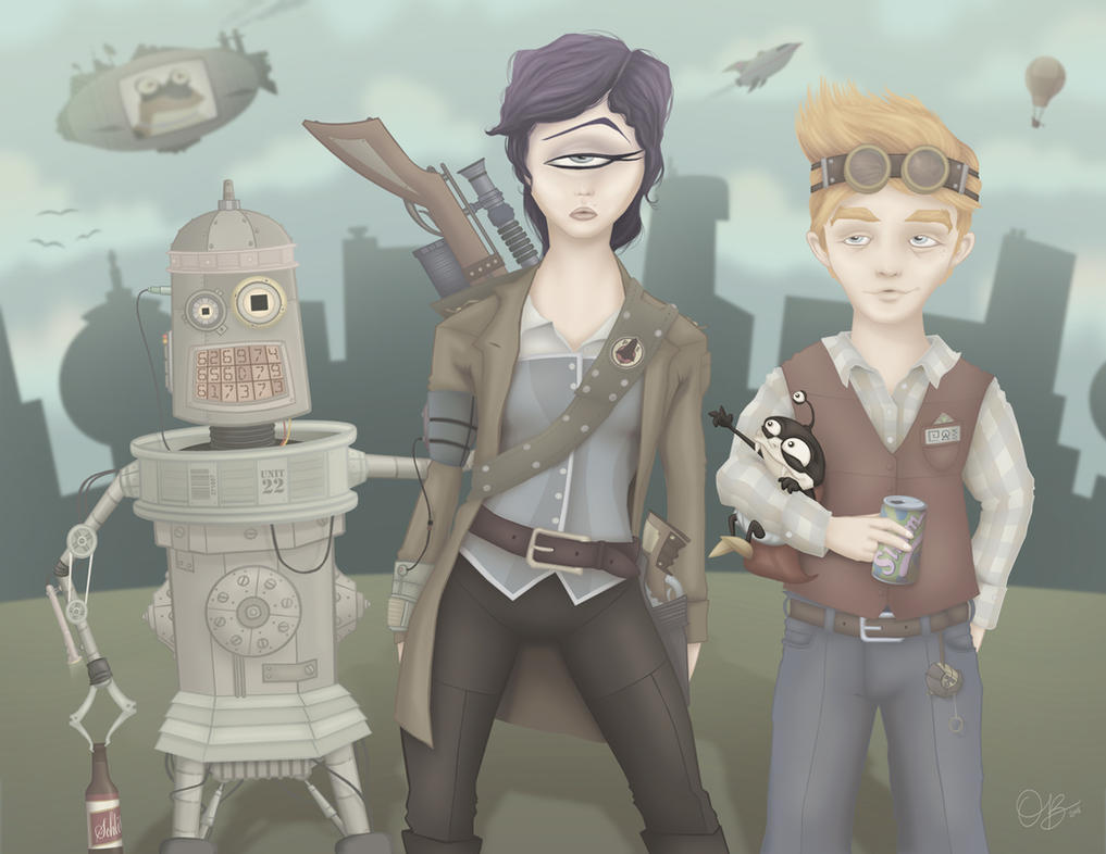 Steampunk Futurama by whysoawesome