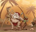 Christmas Card 2009: Santa B.C