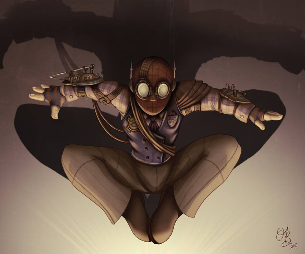 Steampunk Spider-Man by whysoawesome
