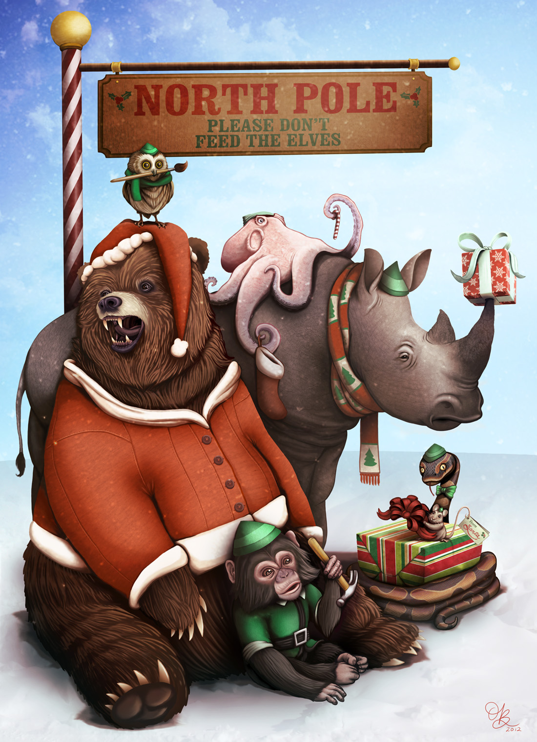 Grizzly Santa by whysoawesome