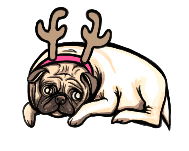 Merry Pug-Mas Progress 05 by whysoawesome