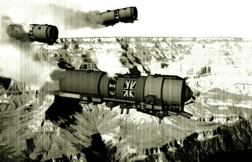 Steampunk Zeppelin Wallpaper Steampunk Zeppelins Over Mars