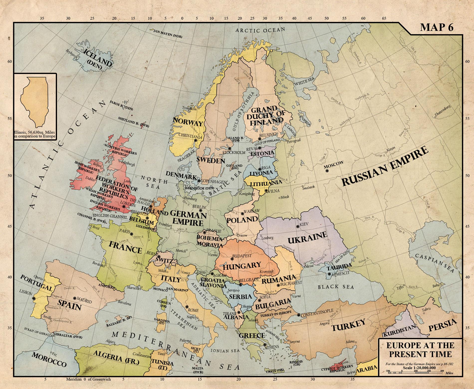 1940 Map Of Europe  Thefreebiedepot
