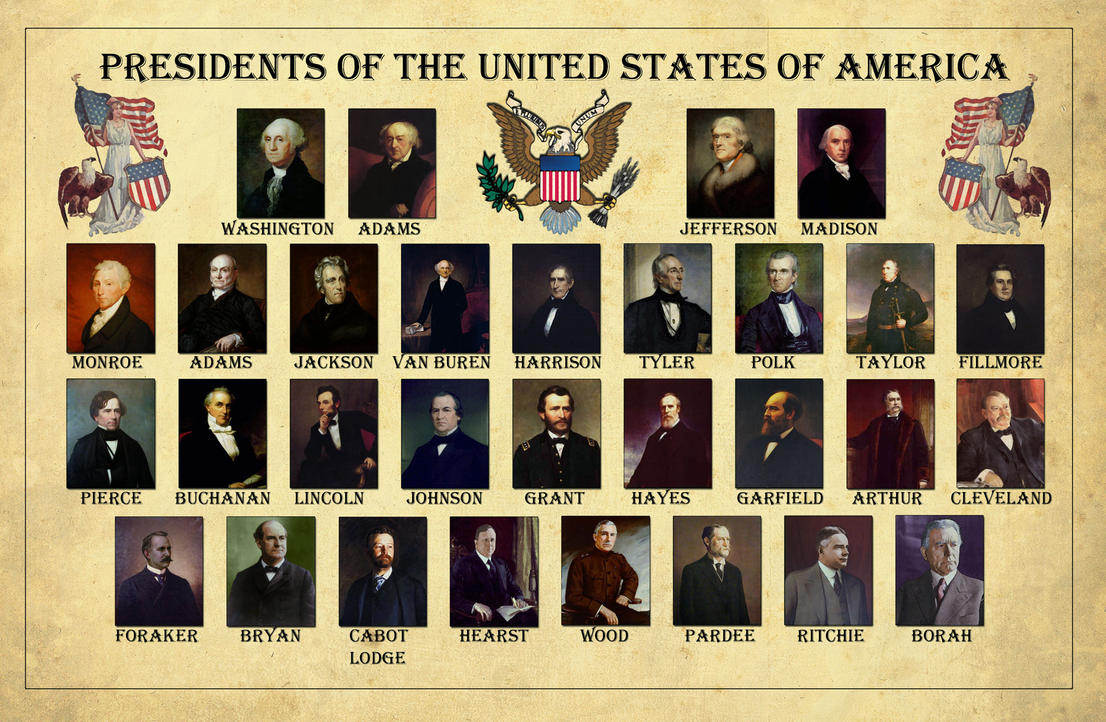 The Presidents Of The Usa By Edthomasten On Deviantart