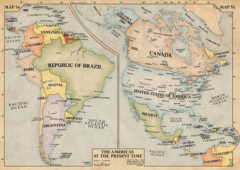 The Americas, 1940 by edthomasten