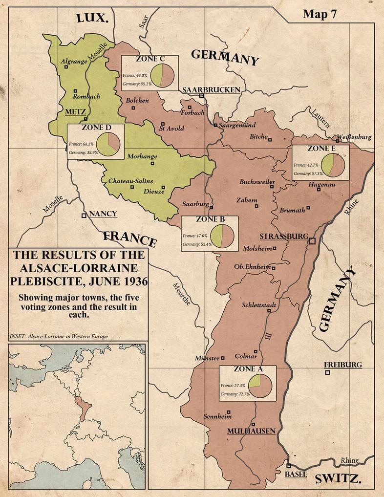Alsacian Plebiscite, 1936 by edthomasten