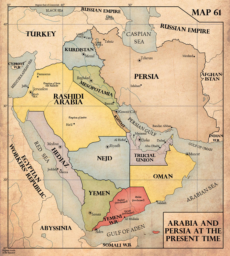 Fight And Be Right By Edthomasten On DeviantArt - Middle east political map 1900