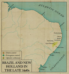Brazil and New Holland in the late 1640s