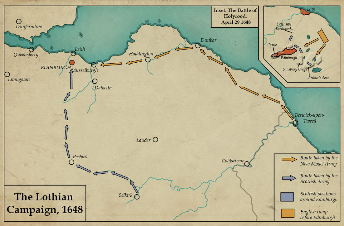 The Lothian Campaign, 1648 by edthomasten