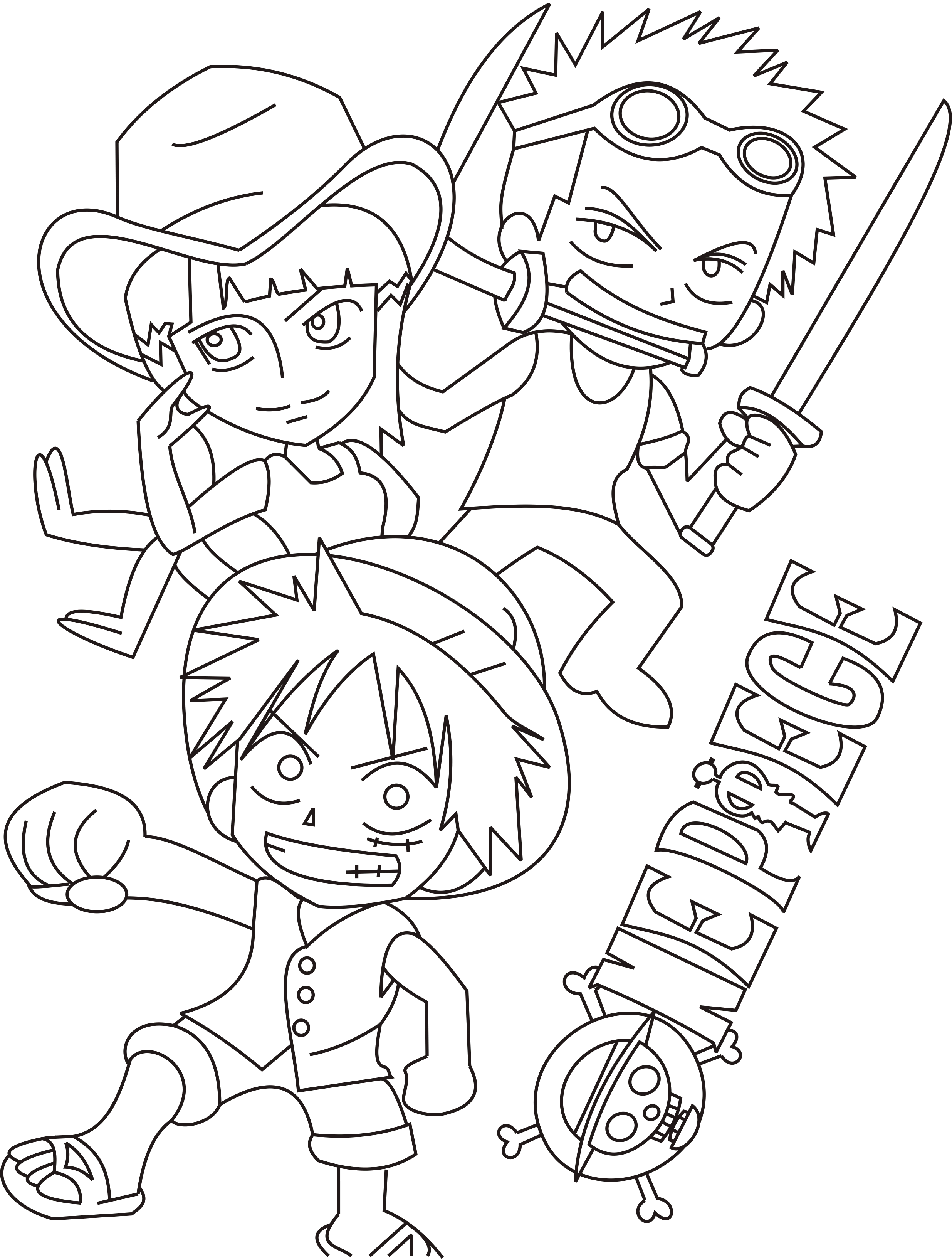 Dibujos de one piece para colorear for One piece dibujos