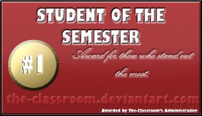 Student award: Semester by faireyes