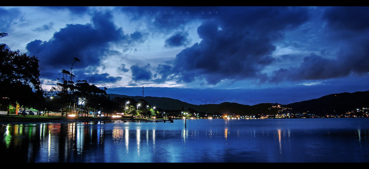 Lagoon sky by Miguel-Santos