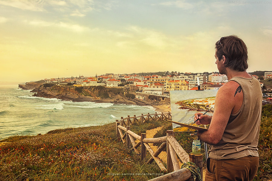 Sunset Painter by Miguel-Santos