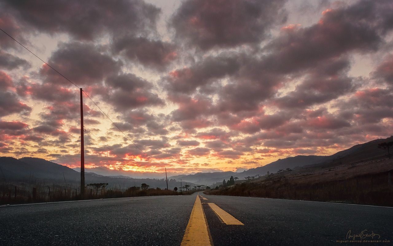 Daybreak on the Road by Miguel-Santos