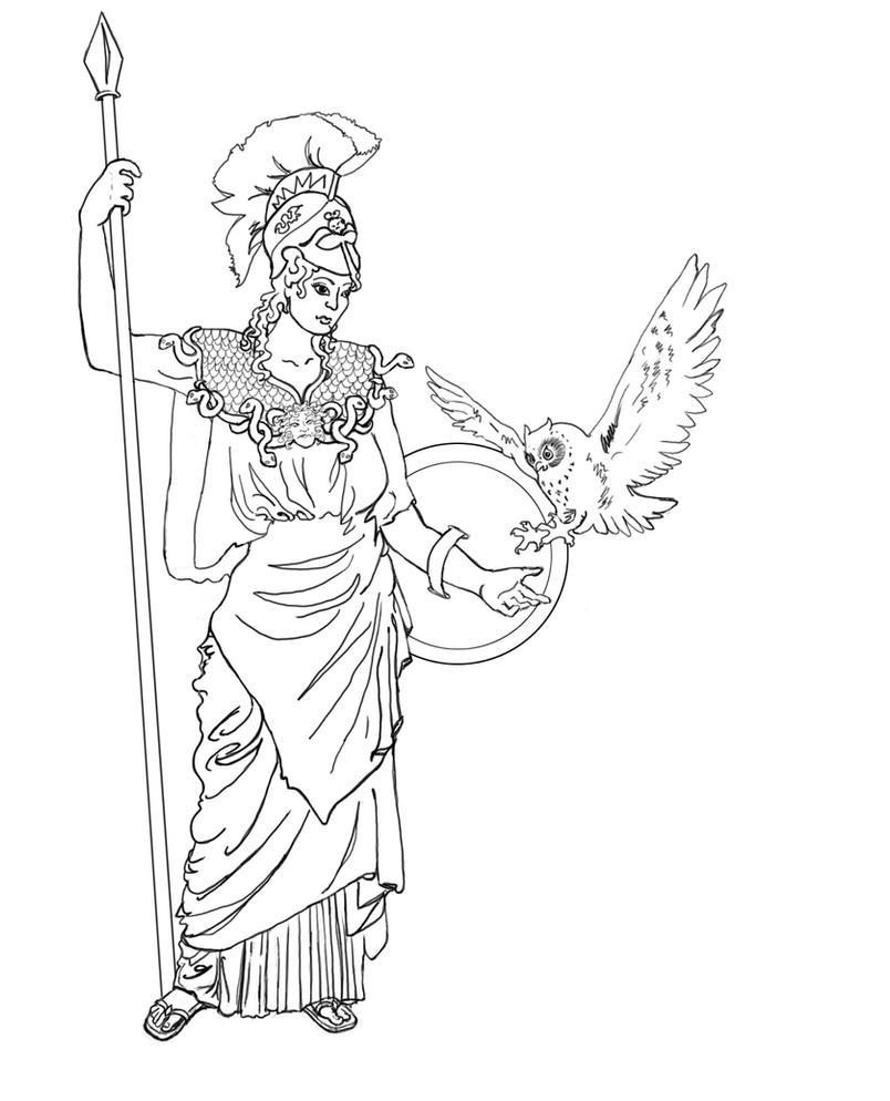 Раскраска афины