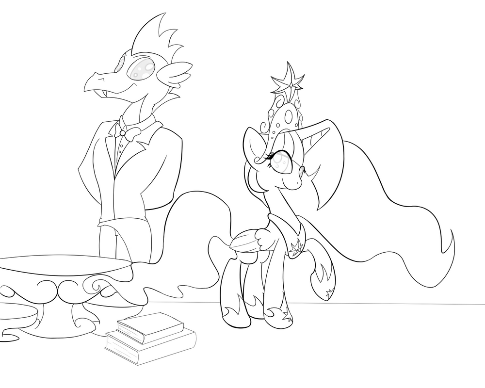 Lineart Collab: My Faithful Partner by D-SixZey