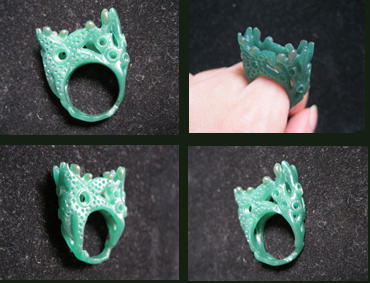 My carved wax ring