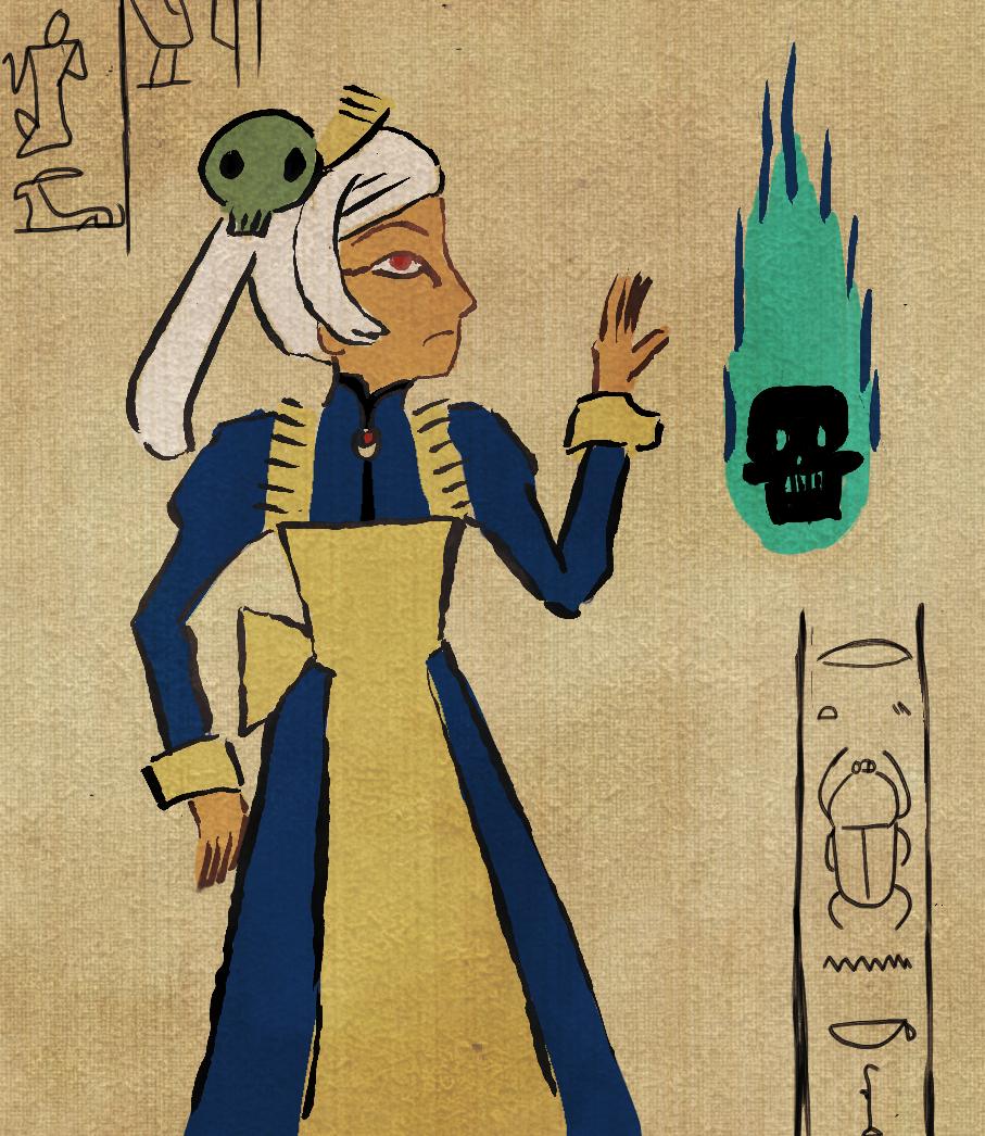 Egyptian mural by kuroirozuki on deviantart for Egyptian mural painting