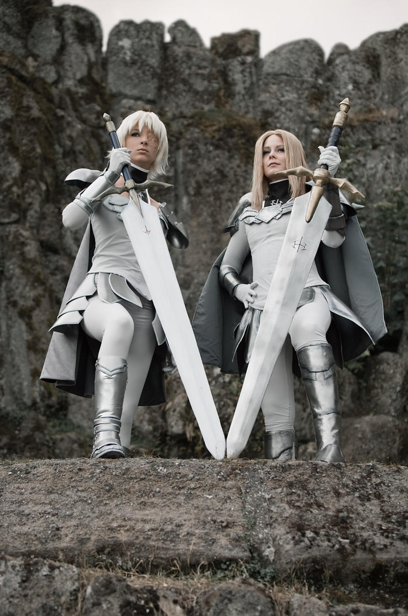 Two warriors... by Isadorada