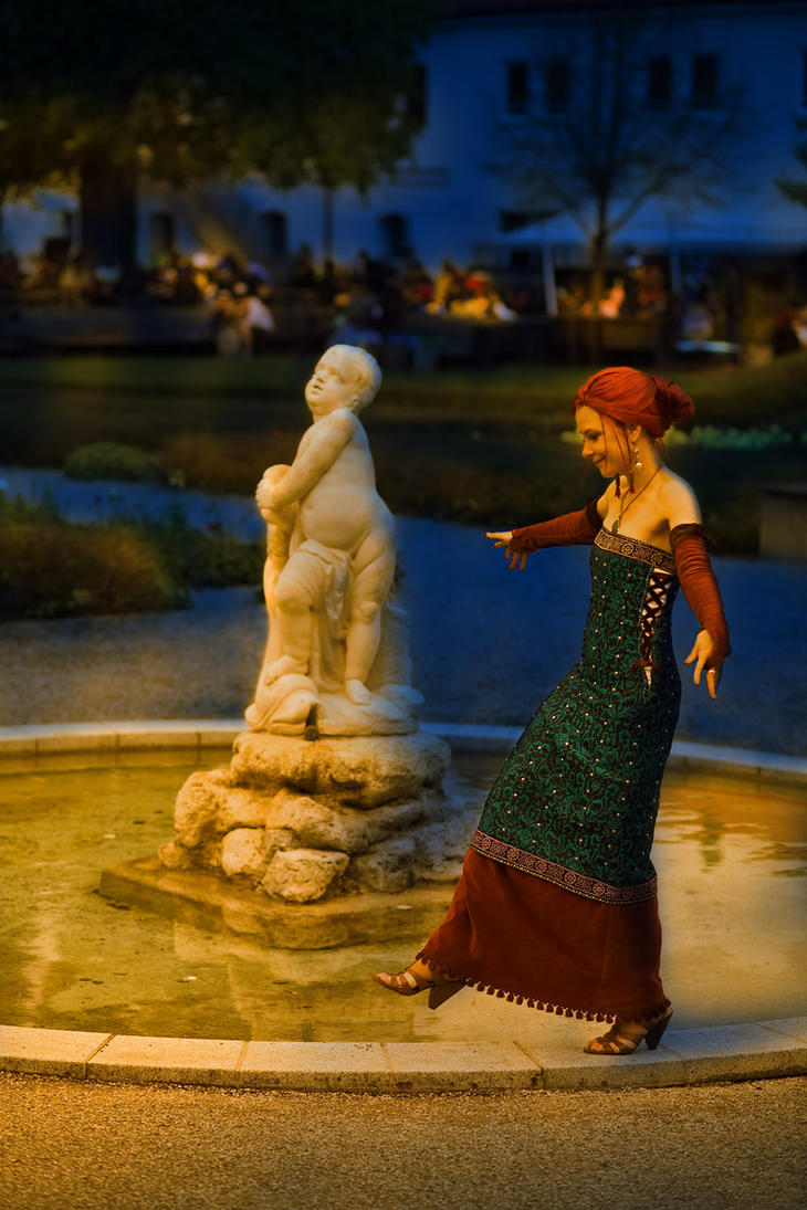 A little drunk at the fountain... by Isadorada