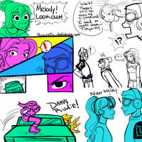 JSRF: Rudie Sisters Chapter 3 Doodles by Shawasia