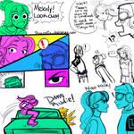 JSRF: Rudie Sisters Chapter 3 Doodles