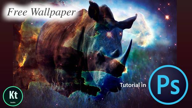 Making Rhino Scene Effect In Photoshop