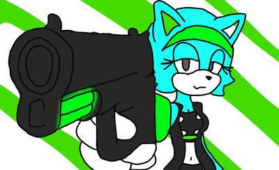Felina with a gun by stanleythecat