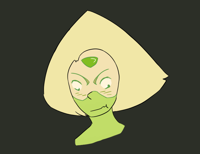 I've been binge watching Steven universe and I wanted to draw Peridot because I love her.