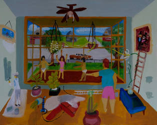 Dream 9 Dancing on Window Sill by LisaLovelyLPA