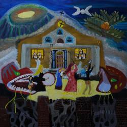 Salvataggio di Maria e Gesus Bambino.