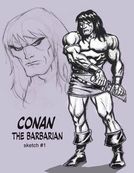 Conan scketch page by VintonHeuck