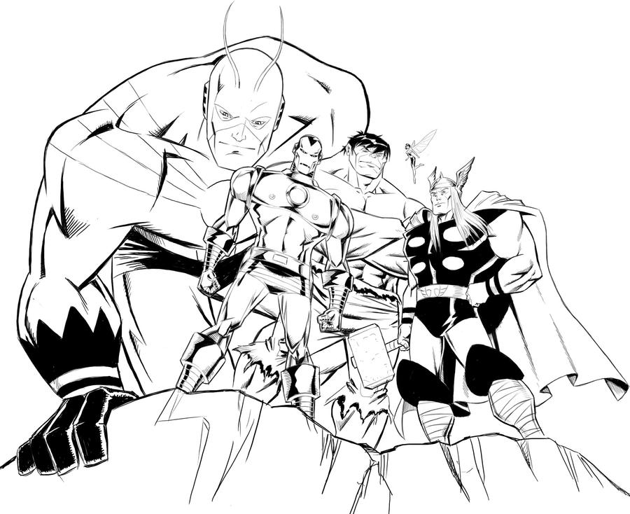 Avengers Assemble Colouring Pages : Avengers Semble Free Colouring Pages