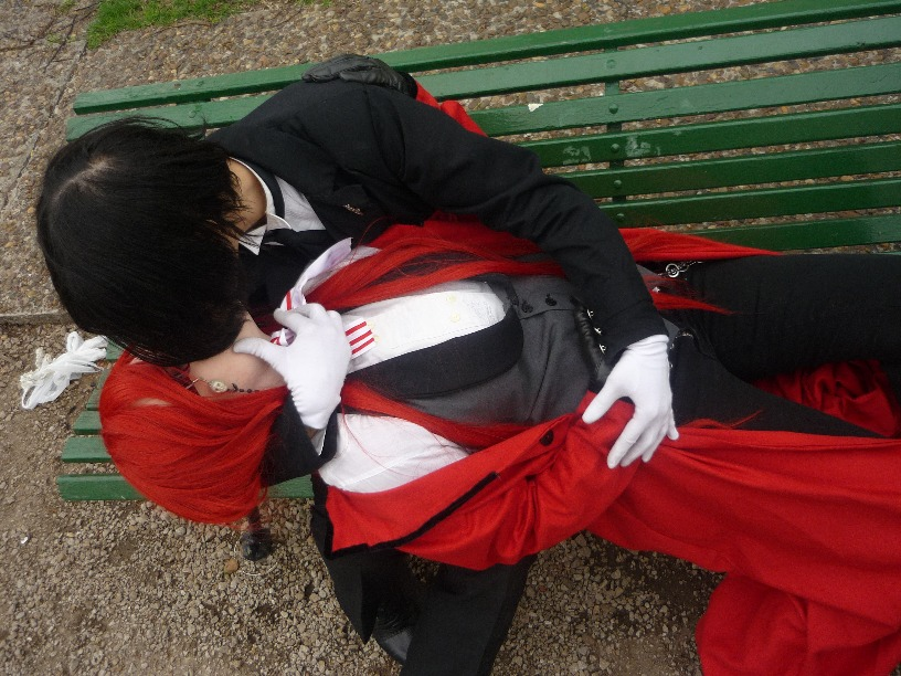 kiss grell sebastian by galamaia on deviantart
