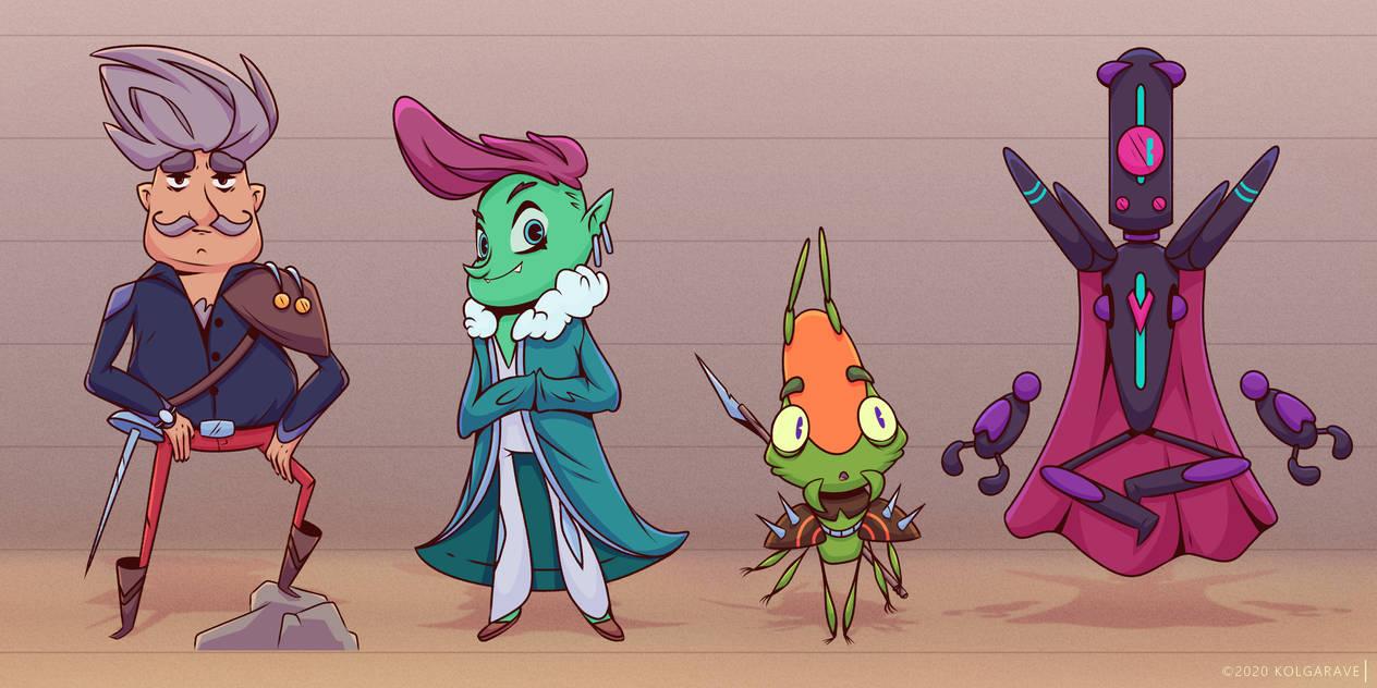 Character designs [opposites]
