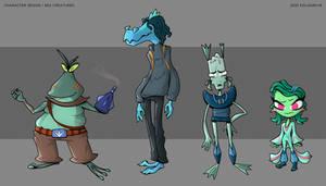 Character Design - Sea Creatures