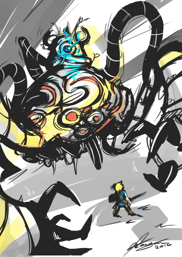 how to draw a guardian zelda