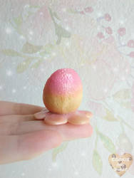 Pink Bunny Flower Egg by CookieAndDinos