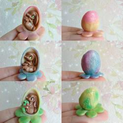 Bunny Flower Egg by CookieAndDinos