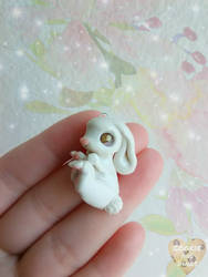 Baby Bunny Charm by CookieAndDinos