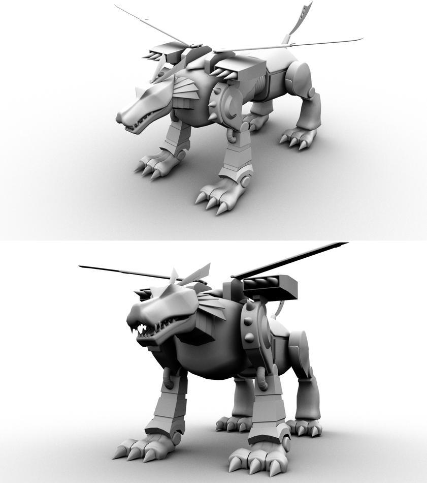 MetalGarurumon by zoinddog