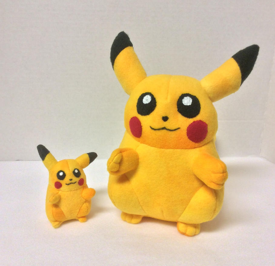 old school fat pikachu plushes by fandomfactoryplushes on deviantart